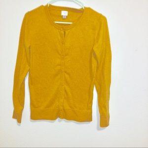 Yellow cardigan size small